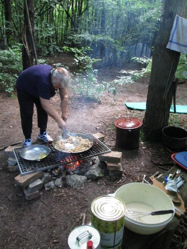 Kochen am Lagerfeuer